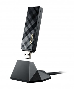 Asus USB-AC54 AC1300 Dual-Band Wi-Fi USB-Stick (802.11ac, USB 3.0 High-Speed, Windows kompatibel, 2x MiMo Antennen)