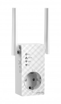 Asus RP-AC53 Dual-Band Repeater (Wi-Fi 5 AC750, 1x Fast Ethnernet LAN, Integrierte Steckdose, externe Antennen, ExpressWay, App Steuerung)