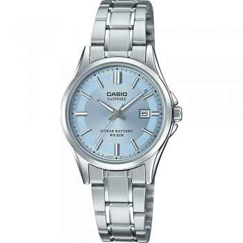 Casio Collection Damen Analog Uhr LTS-100D mit Edelstahl Armband