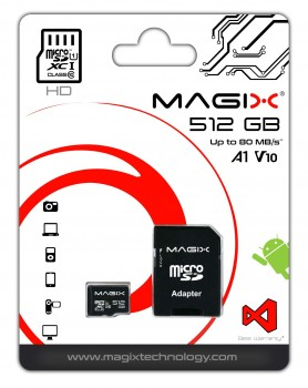 Magix Micro SD Card HD Series Class10 V10 + SD Adapter UP to 80MB/s (512GB)