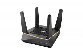 Asus RT-AX92U Router (Ai Mesh WLAN System, WiFi 6 AX6100, Tri-Band, 4x Gigabit LAN, 1.8 GHz DC CPU, AiProtection, USB 3.0, 160 MHz, 1er Pack)