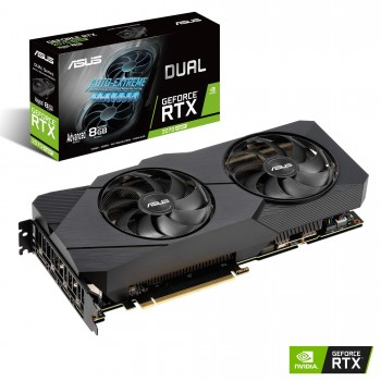 ASUS Nvidia GeForce RTX 2070S DUAL EVO Advanced 8G Super Gaming Grafikkarte (PCIe 3.0, 8GB DDR6 Speicher, HDMI, Displayport, USB Type-C)