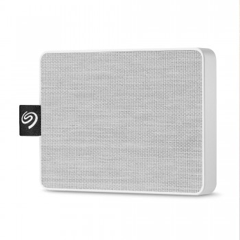 Seagate One Touch SSD, 500 GB, Portable externe SSD, 2.5 Zoll, USB 3.0, PC & Mac, weiß, Modellnr.: STJE500402
