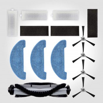 Venga! ST, Replacement Parts VG RVC 3000 Robotic Vacuum Cleaner, Accessories Include 4 Side, 1 Rolling Brush, 3 Mop Cloths, 3 Filter Kits, Grey