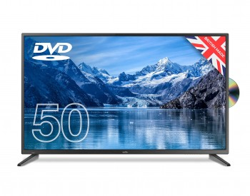 """Cello ZF0205 50"""" inch Full HD LED TV with built-in DVD Player and Freeview T2 HD – UK Made (New 2020 Model),Black"""