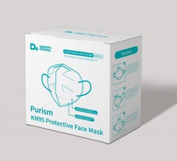Purism, FFP2/ KN95 Respirator Protective Face Mask, 94% Filtration, 20 Pieces