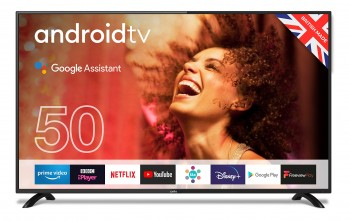 """Cello ZG0205 50"""" Smart Android TV with Freeview Play, Google Assistant, Google Chromecast, 3 x HDMI and 2 x USB 