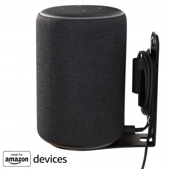 "Soporte de pared ""Made for Amazon"" para Echo Plus (2.ª generación) y Echo (3.ª generación) - Negro"