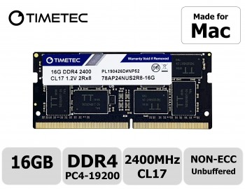 Timetec Hynix IC compatible with Apple 16GB DDR4 2400MHz PC4-19200 SODIMM Memory Upgrade For iMac Retina 4k/5K 21.5-inch/27-inch Mid 2017 (16GB)