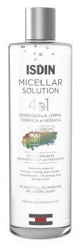 ISDIN Micellar Solution 4-in-1 Micellar Water | Enlève le maquillage | Nettoie, tonifie et hydrate 400ml