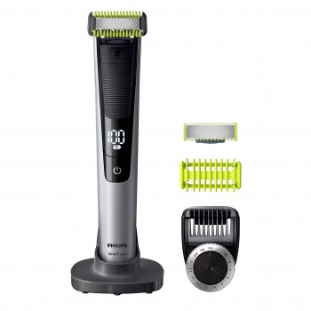 PHILIPS QP6620/30 OneBlade Pro Visage/Corps + Protection Zones Sensibles (Sabot Clipsable)