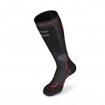 Rollerblade High Performance Socks Chaussettes Adulte-Mixte, Noir/Rouge