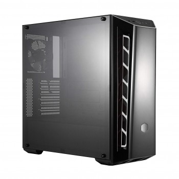 Cooler Master MasterBox MB520 - Boîtier Moyen tour PC Gaming ATX avec panneau avant teinté, entrées d'air Racing, panneau latéral transparent, flexibles configurations de flux d'air - Accent BLANC