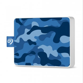 Seagate Technology Technology Technology Disque Dur externe SSD, One Touch SSD 500Go USB3.0, Special Edition Bleu