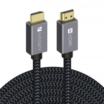 iVANKY Câble HDMI 4,6m 4K Ultra HD - Câble HDMI 2.0 en Nylon Tressé Supporte Ethernet/3D/Retour Audio - Cordon HDMI 4,6m…