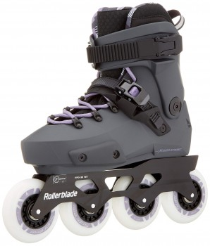 Rollerblade Twister Edge W Patins à roulettes Gris, Femmes, Anthracite/Lilas, 235