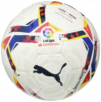 PUMA LaLiga 1 Accelerate MS Ball Ballon De Foot Unisex-Adult, White-Multi Colour, 5