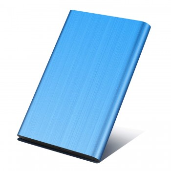 Disque Dur Externe 2to, Disque Dur Externe pour PC, Mac, MacBook, Xbox One, Desktop, Laptop,Chromebook, Xbox 360(2To,Bleu)