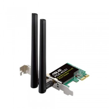 Asus PCE-AC51 Scheda di rete PCI-Ex Wireless AC750 DUAL Band 433/300 Mbps 2.4Ghz / 5Ghz dualband / 2 antenne esterne