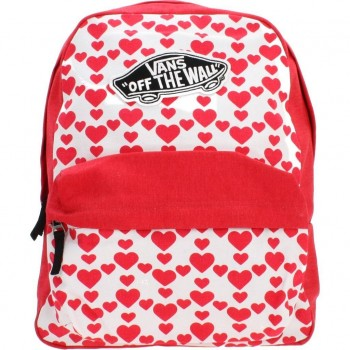 Vans Realm Backpack Zaino, 42 Cm, 22 L, Rosso(Hearts)