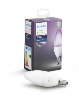 Philips Lighting  White And Color Ambiance Lampadina, E14, 6.5 W, Bianco, S, 1 Pezzo