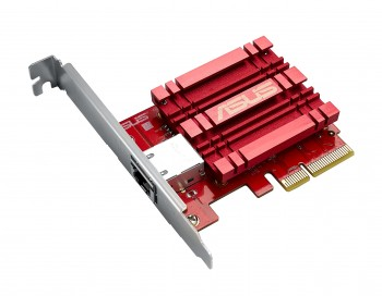 Asus XG-C100C  Scheda di Rete PCIe 10GBase-T / Compatibile con 5/2.5/1Gbps and 100Mbps / RJ45 port con QoS / Supporto Windows and Linux Kernel 4.4