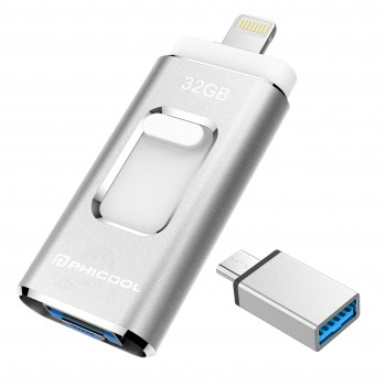 Chiavetta USB Flash Drive per iOS e Andriod,PHICOOL USB 3.0 Pendrive Chiavetta Memoria Dispositivi con Apple iPhone…