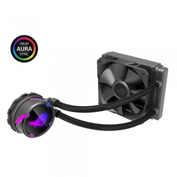 ASUS ROG STRIX LC 120 Cooler CPU All-in-One ROG con Illuminazione Addressable RGB, Aura Sync, Rivestimento Pompa NCVM e…