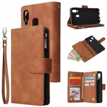 UEEBAI Card Slots Zipper Wallet Case -Samsung A