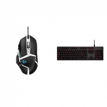 Logitech G502 HERO Special Edition Mouse Gaming + Logitech G413 Tastiera Gaming Meccanica